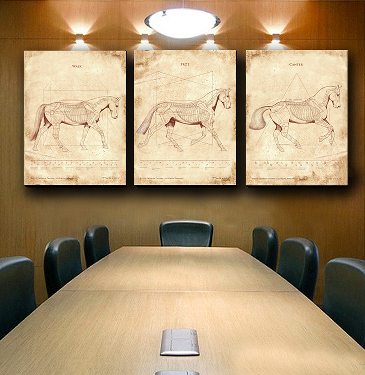 Triptych, C. Twomey Equine/Horse Prints