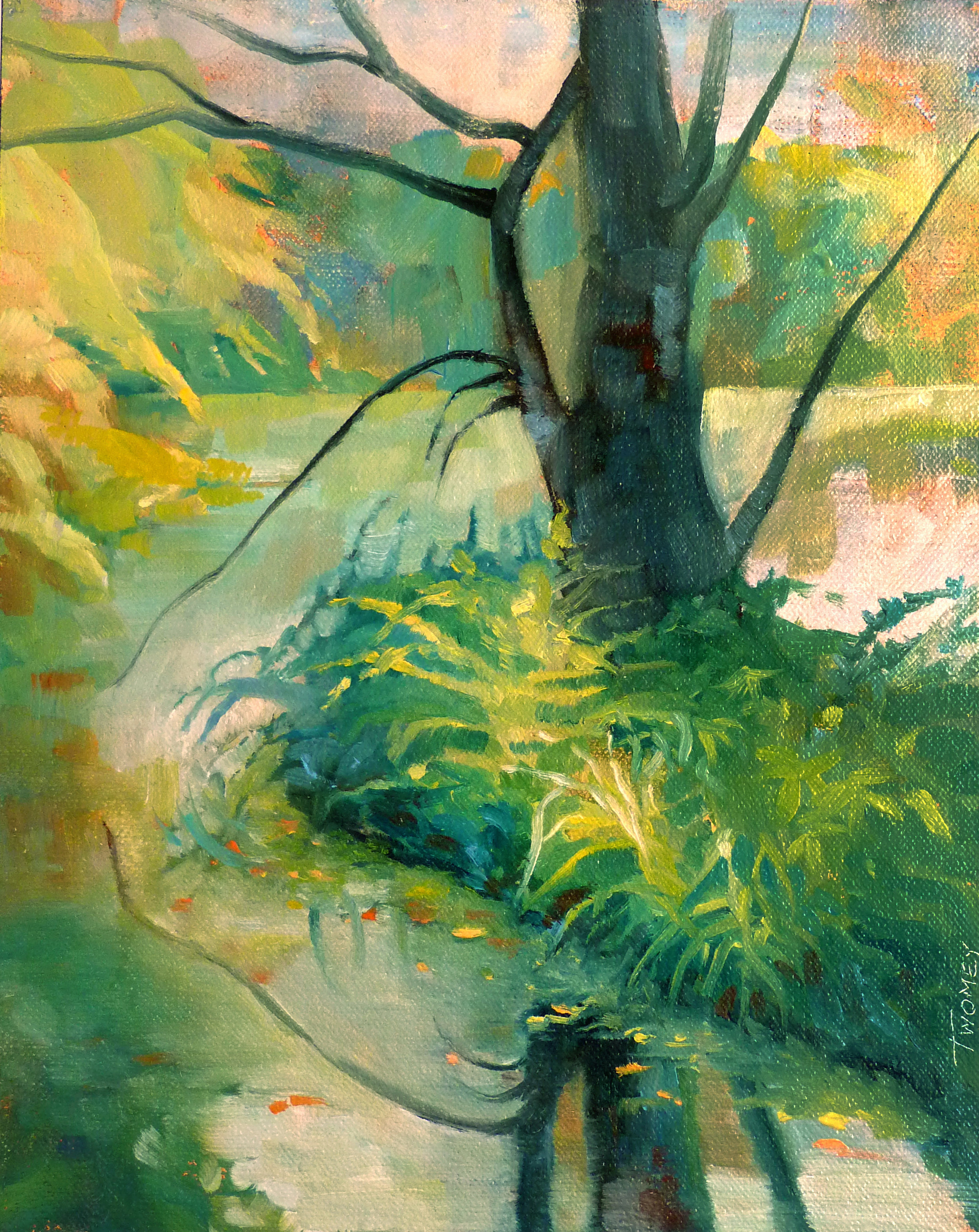 """Bass Pond 3"" original oil by Catherine Twomey."