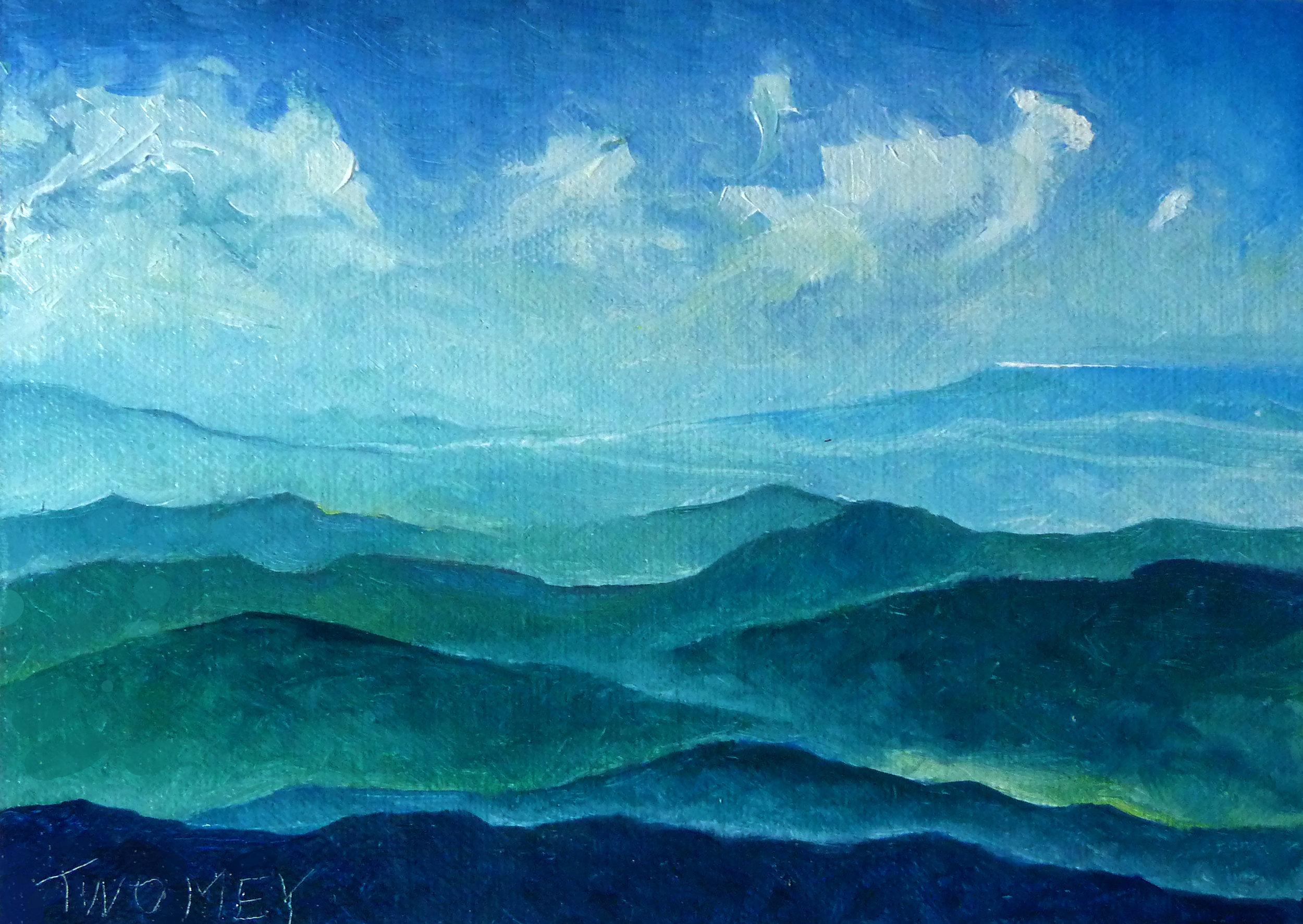 """Blue Ridge Blue Sheep Cloud"", C. Twomey,"