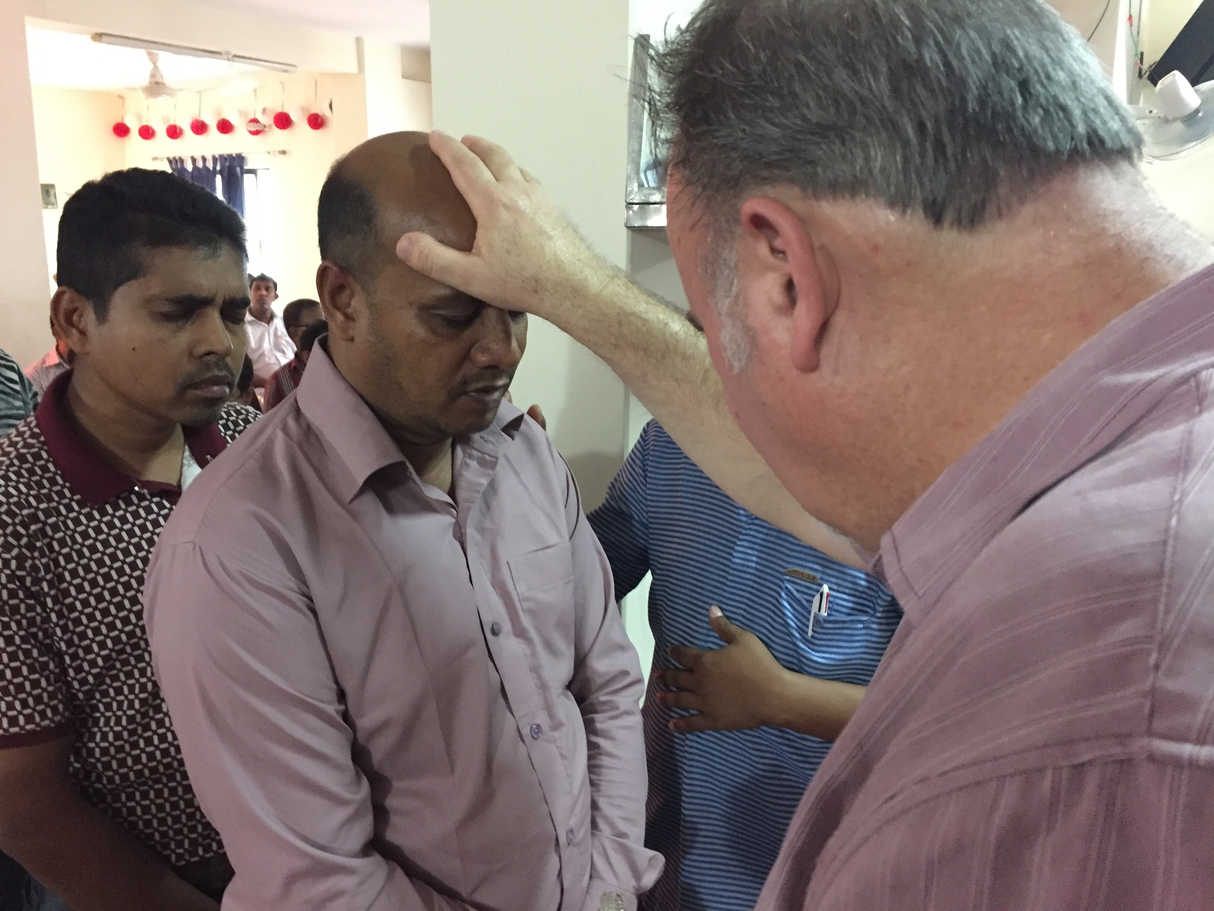 Mike prays with some on-fire Igniters from all over Bangladesh.
