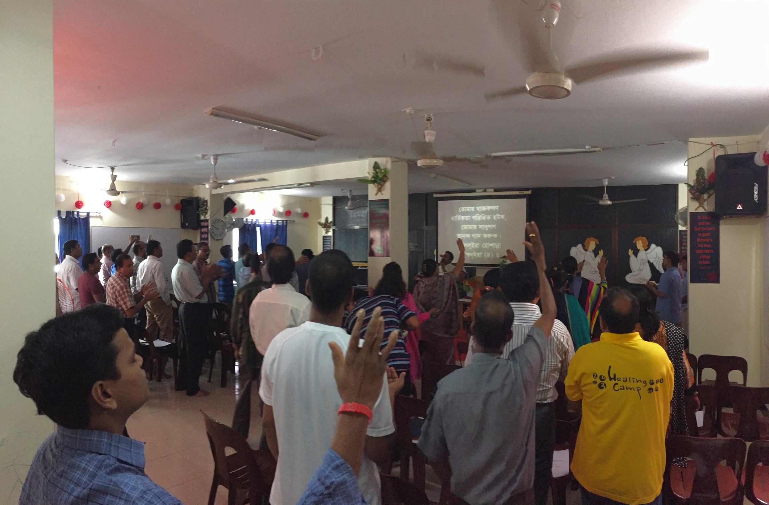 Worshipping at the Igniter training in Dhaka!