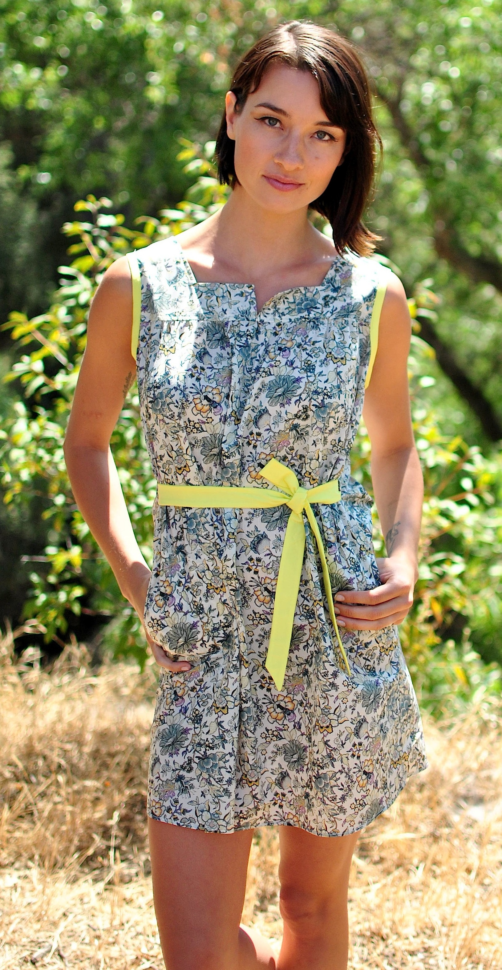 Liberty Floral Mini Dress with Pockets