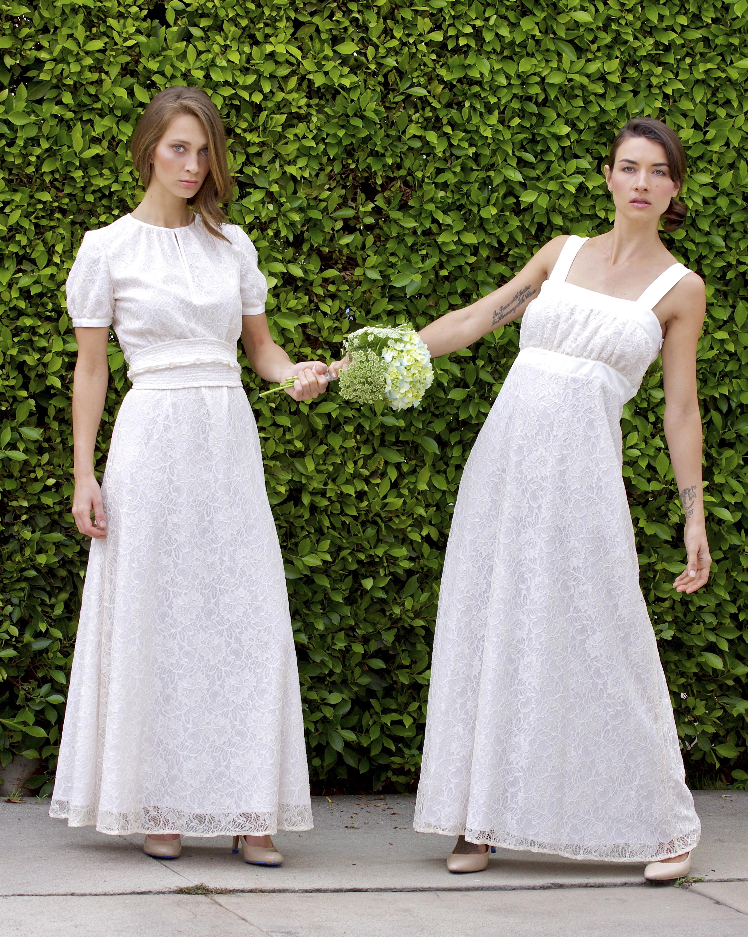 Bridal Lace Keyhole Dress with Beaded Obi