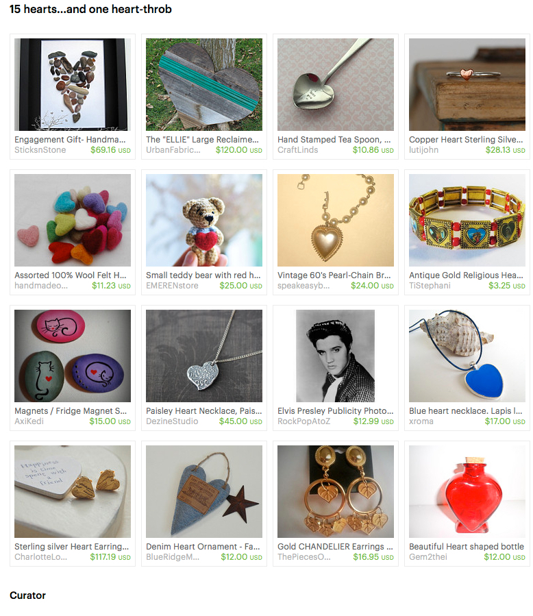 Curated Hearts on Etsy