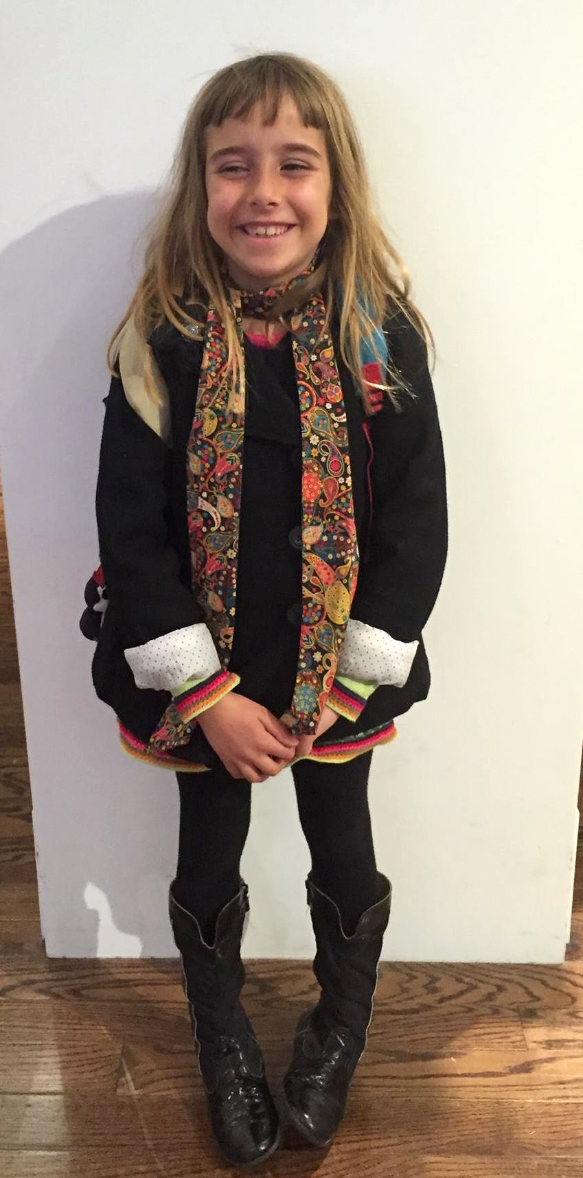 My stylish niece & her fab liberty scarf.