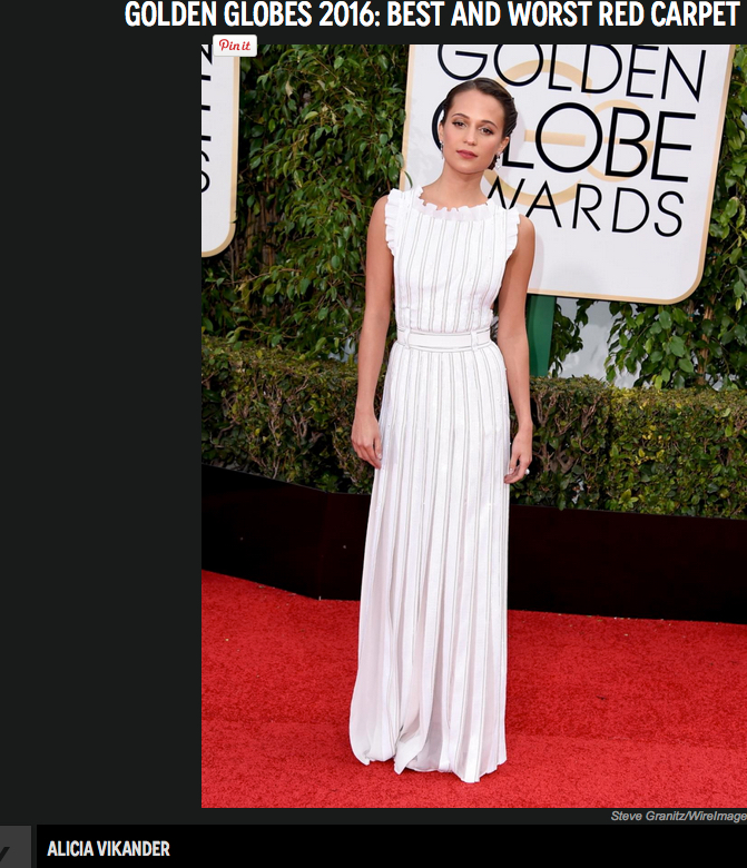 Alicia Vikander - sweet & lovely in that white un-gown