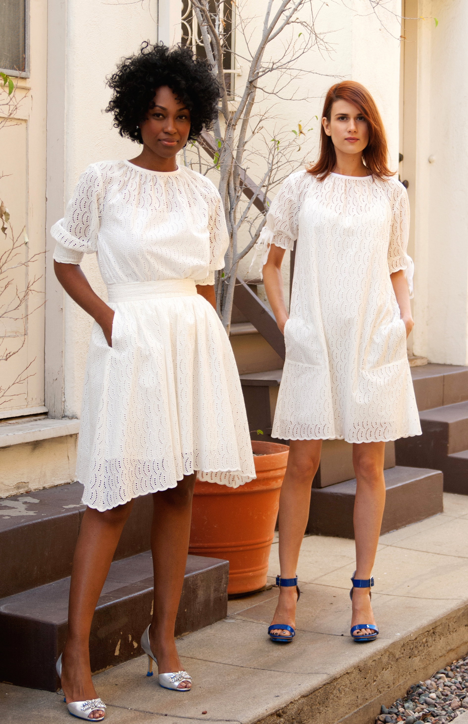 Shirred Shift Blouse, Dirndl Skirt, Shift Dress