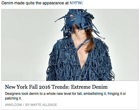 1. Denim—always fabulous, but trends are lame, and this photo speaks volumes…
