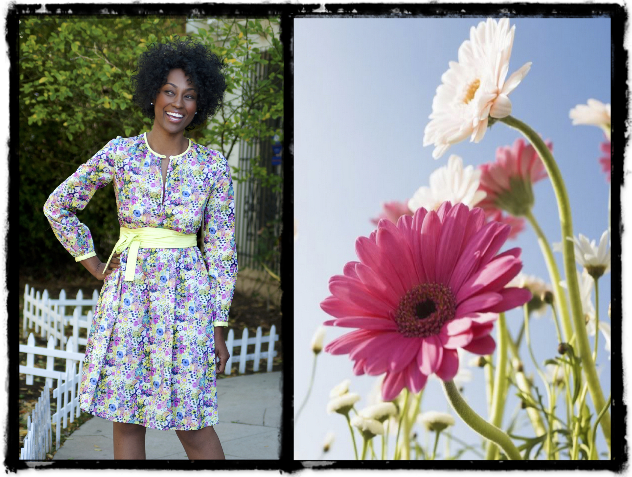 * Happy (model) in my fav    Liberty dress*     Classic-Bold-Artful — Fashion for Keeps.