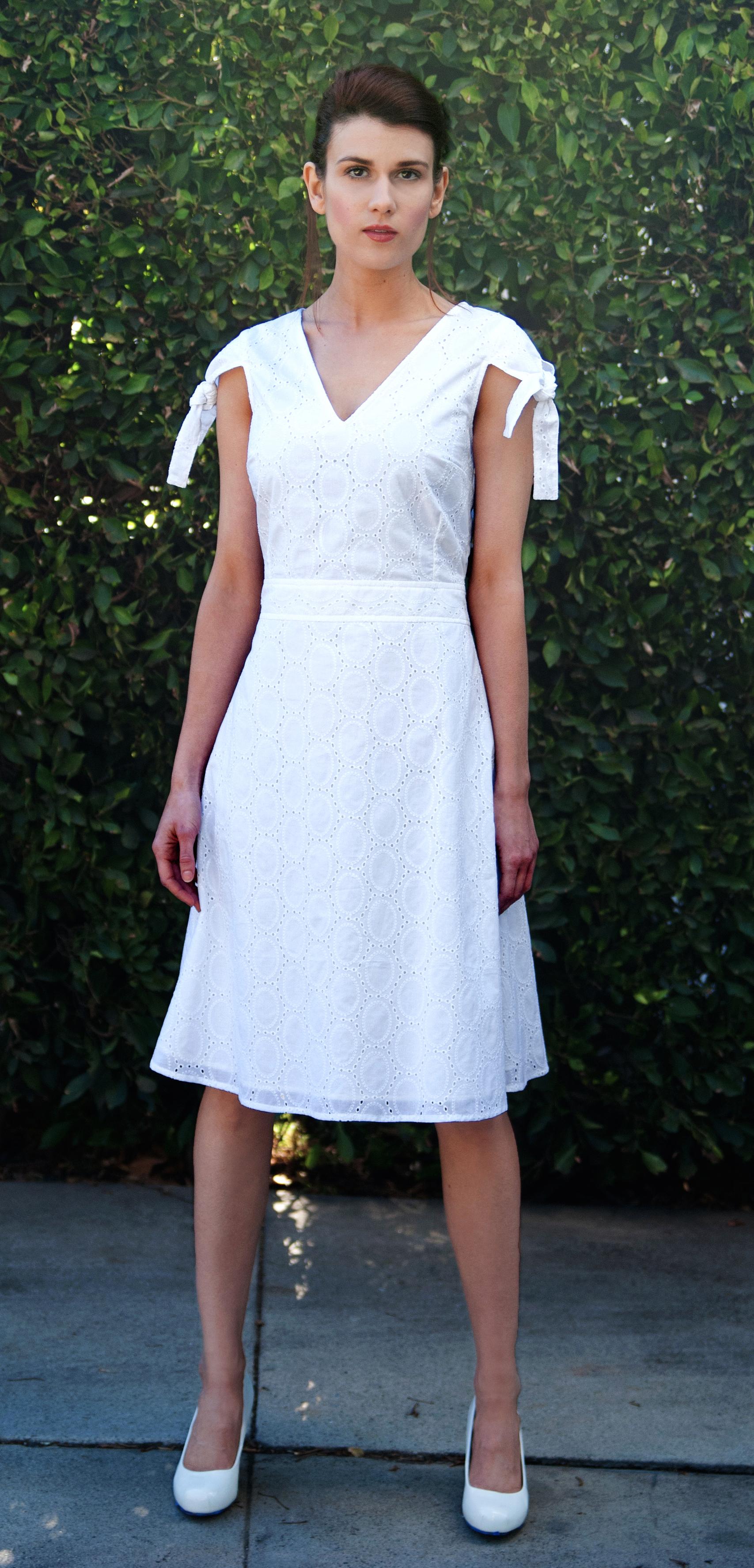 Open V-Neck Dress