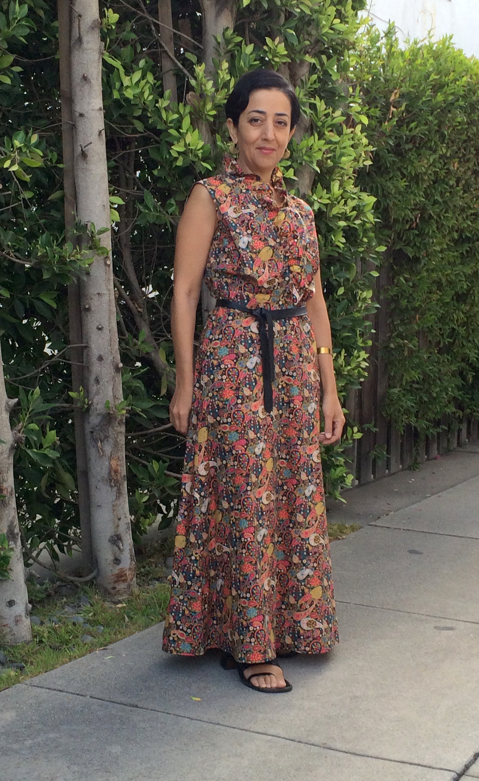 Liberty-Print Ruffle-Edged Maxi  — my fave dress right now