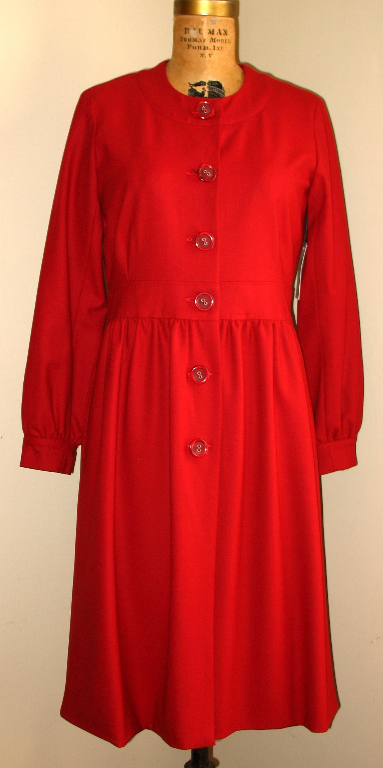 Red Modern Princess Style Coat