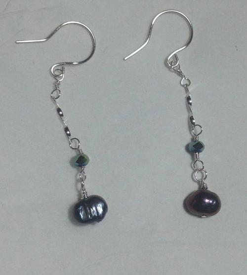 Pearl Dangly Earrings