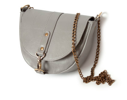 Gray Leather Purse