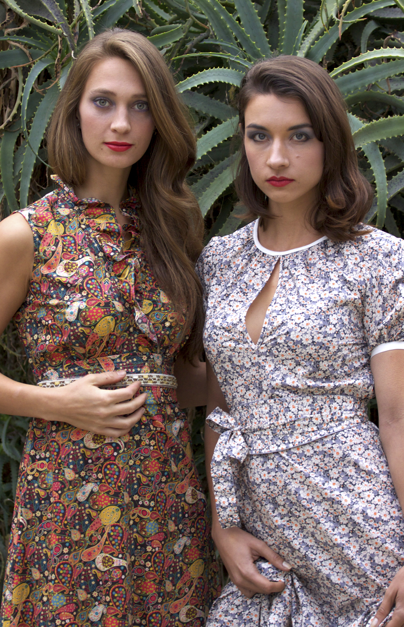 Ruffle Maxi Dress & Maxi Dress with Sleeves in Liberty London Prints