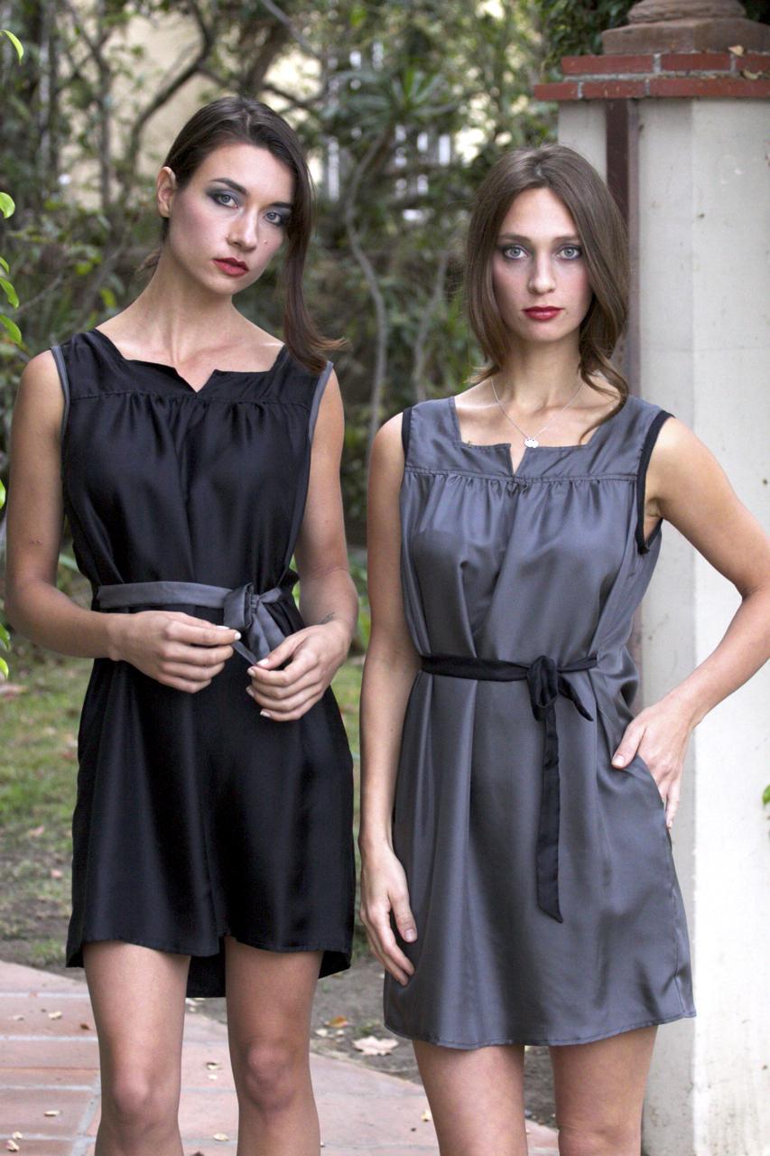 Little Black Mini Dress & Little Gray Mini Dress in Silk
