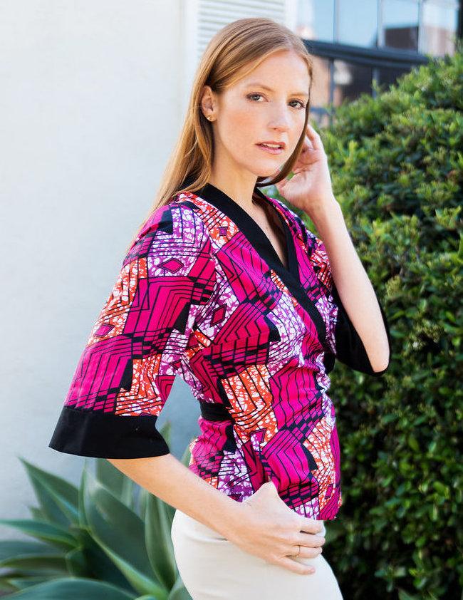 Kimono Jacket in African Print