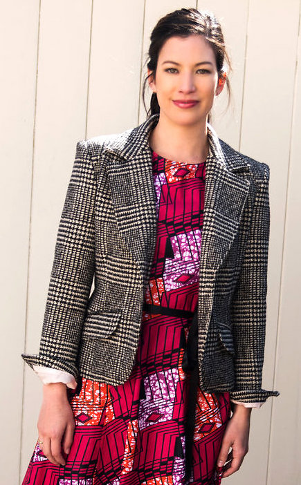 Tailored Jacket in Plaid Wool