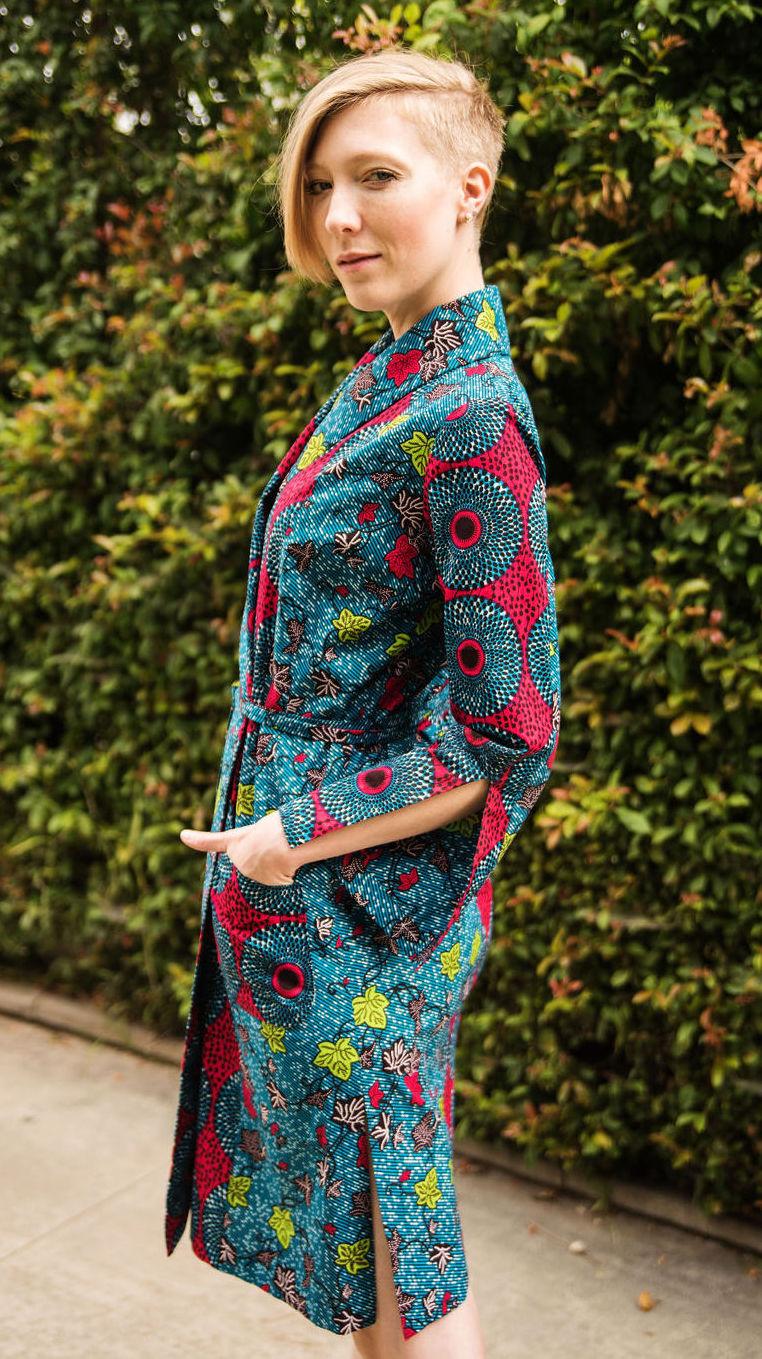 Kimono Dress in African Print