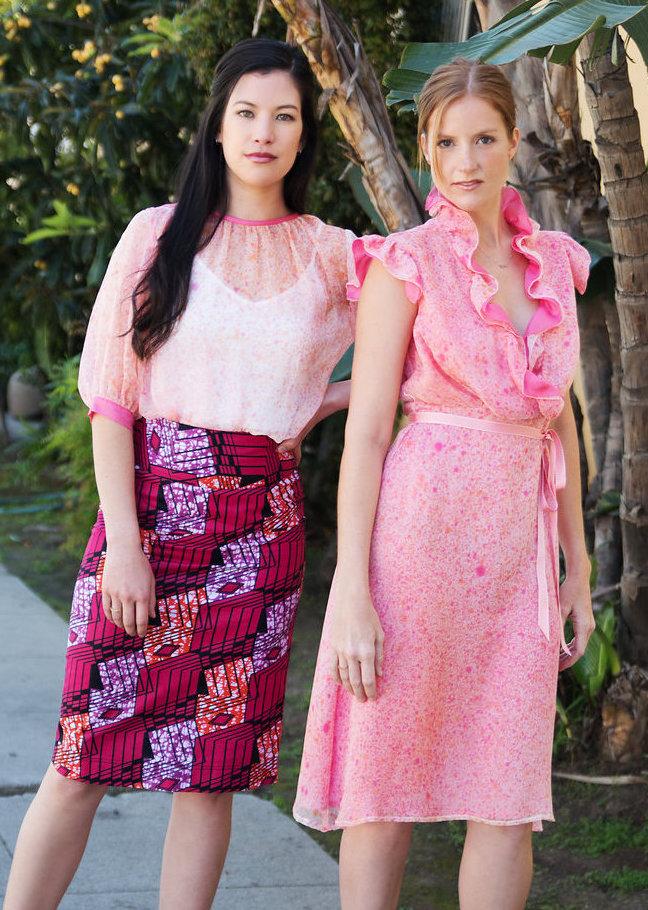 Chiffon Blouse & Pencil Skirt, Chiffon Midi Dress