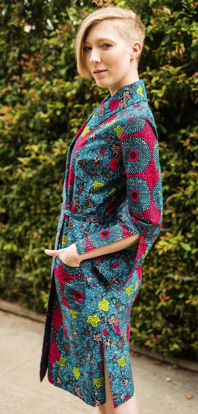 Kimono Dress with Pockets