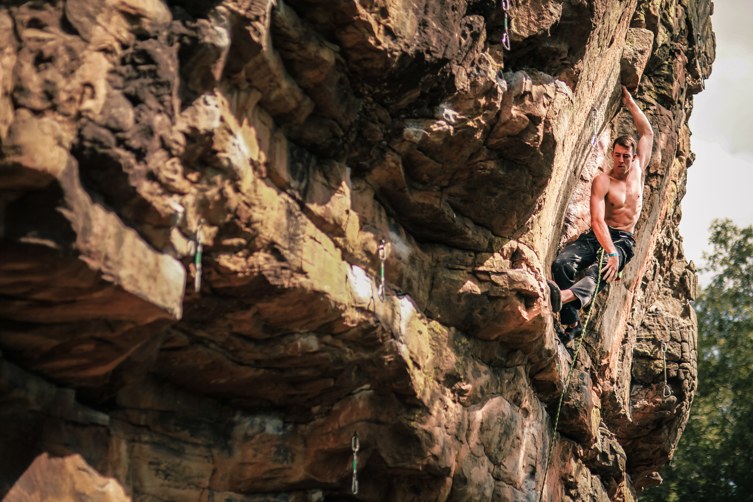 CLIMBER COMPETING AT THE 24 HOURS OF HORSESHOE HELL.   JOSH BEECHER