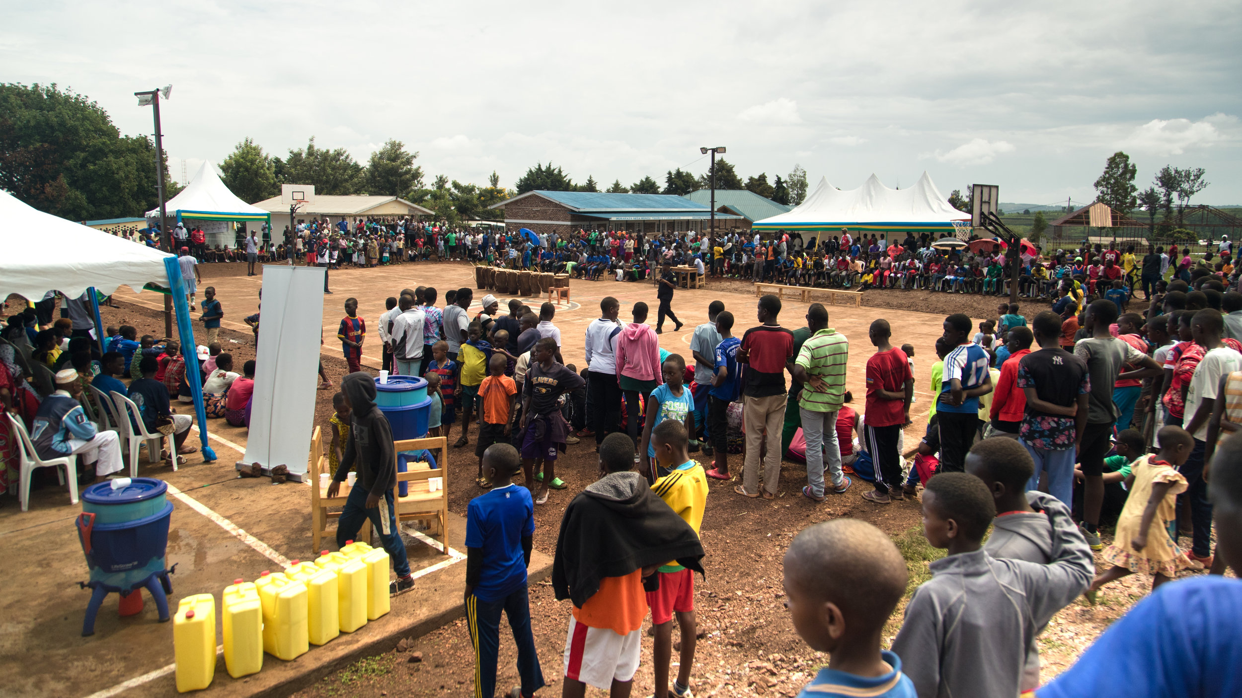 The basketball tournament attracted over 2k people. Next to the court Shooting Touch and local health administrators provided free health screenings for HIV, diabetes and Breast cancer.