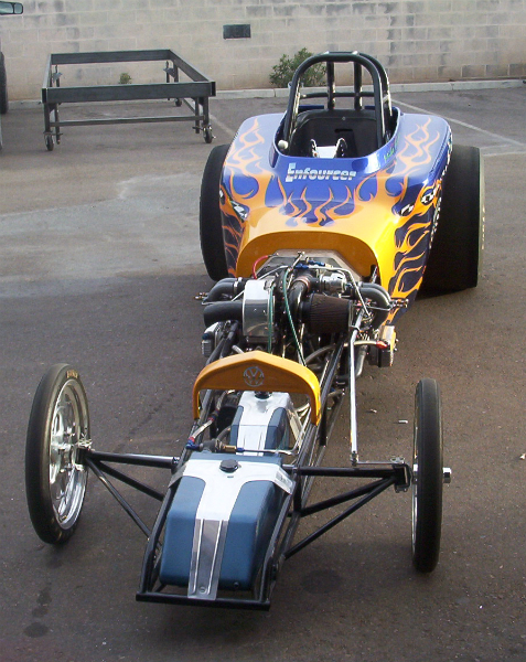 VW powered drag car