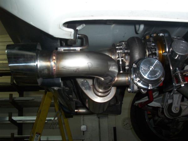 Acura NSX turbo wategate and muffler plumbing