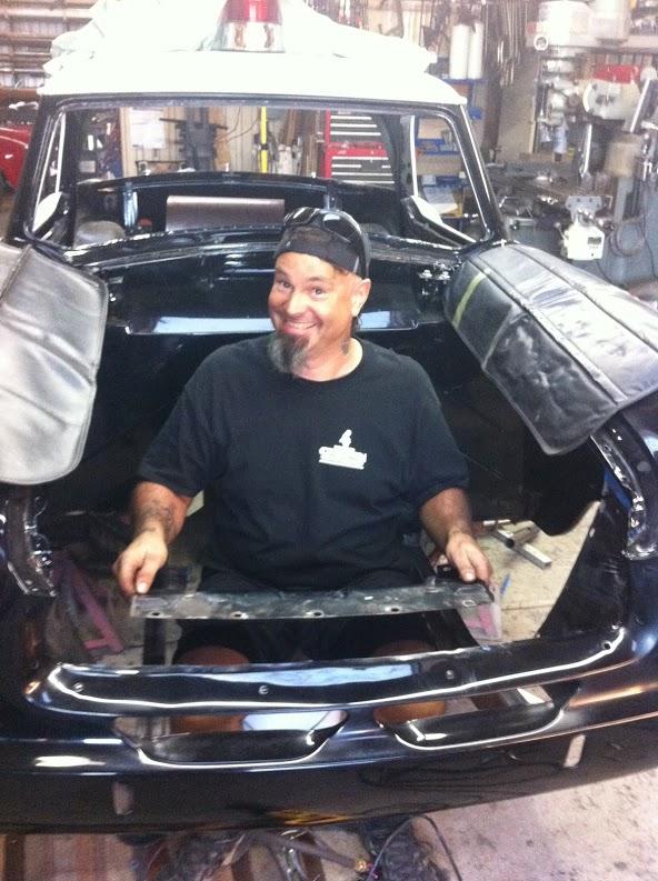 Gary removing sheet metal