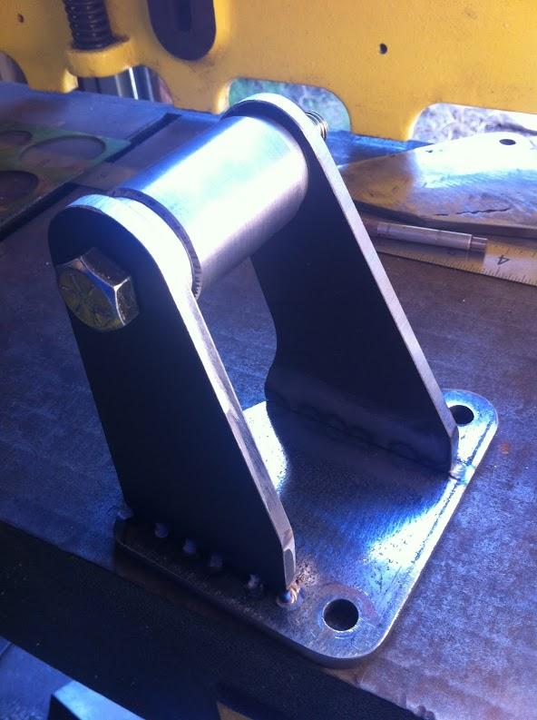Motor mount ready to weld