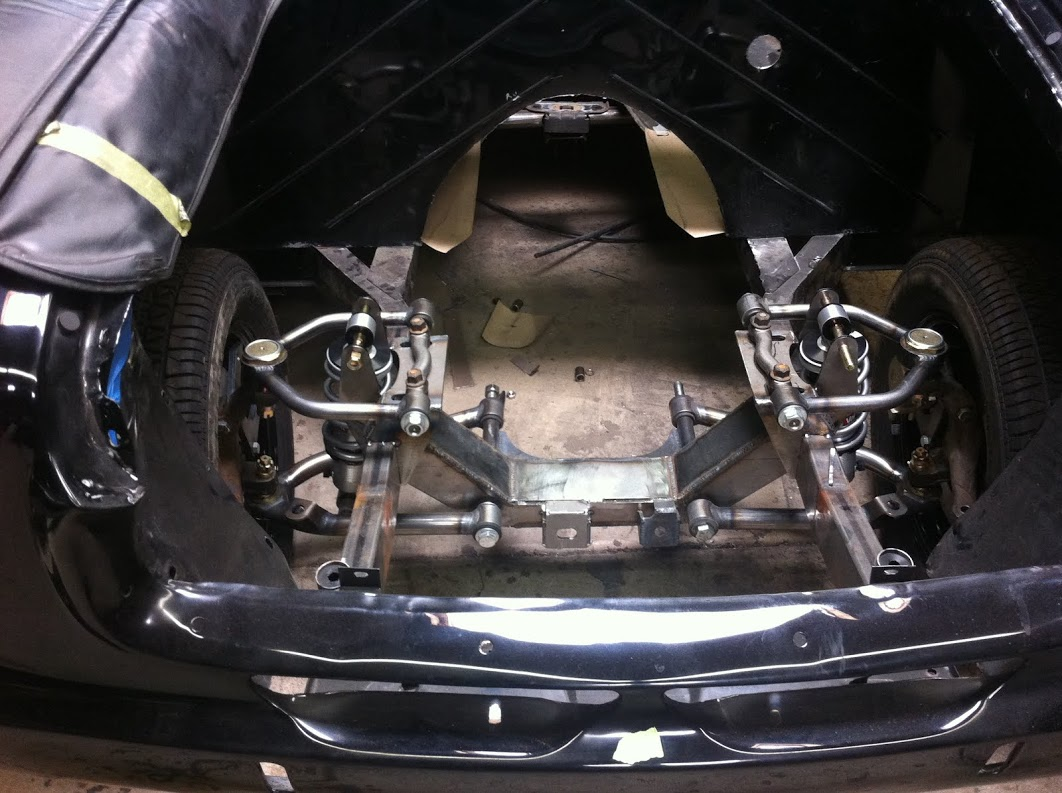 New front suspension on new frame rails