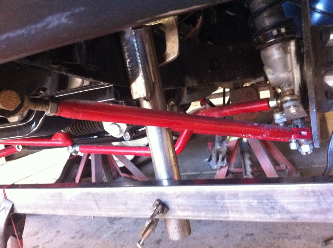 The front suspension came in with pretty poor geometry and craftsmanship