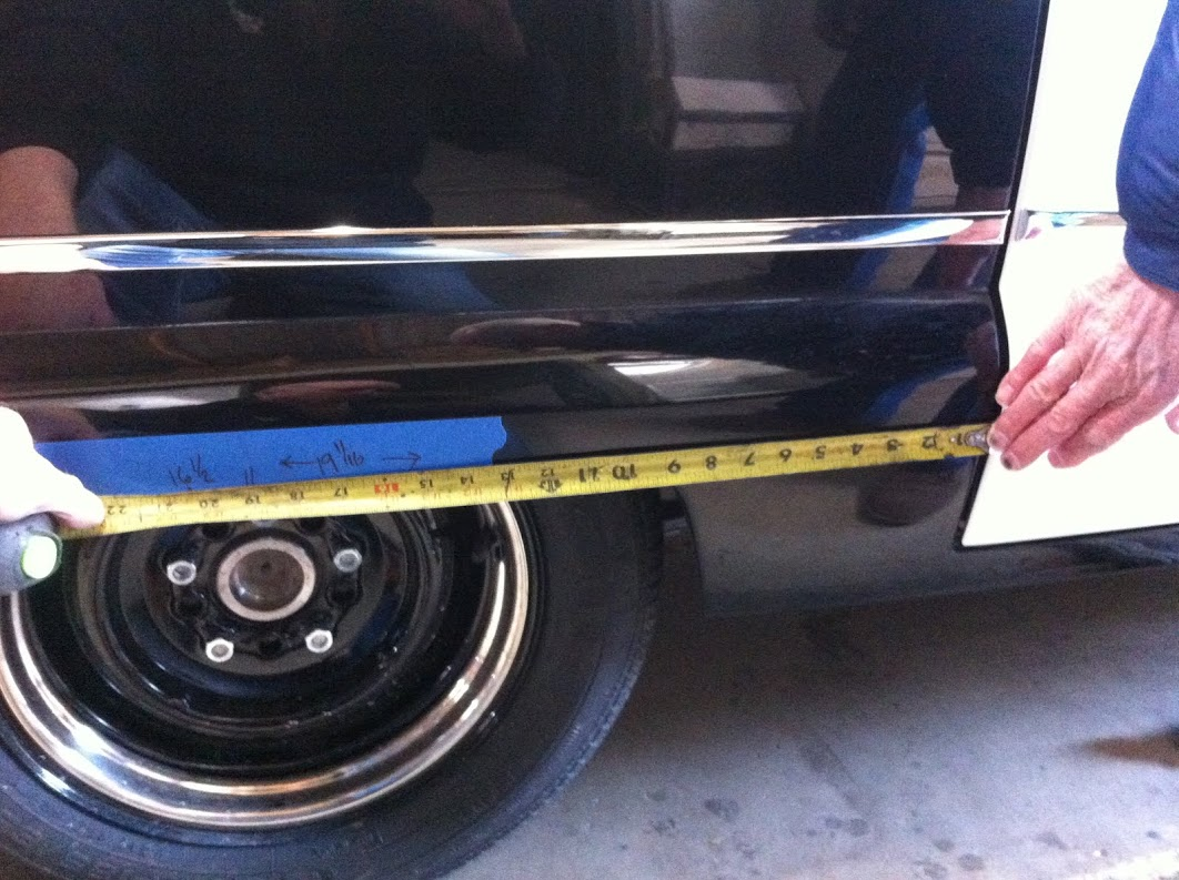 The wheelbase came in almost and inch different side to side, with the rear axle crooked too.