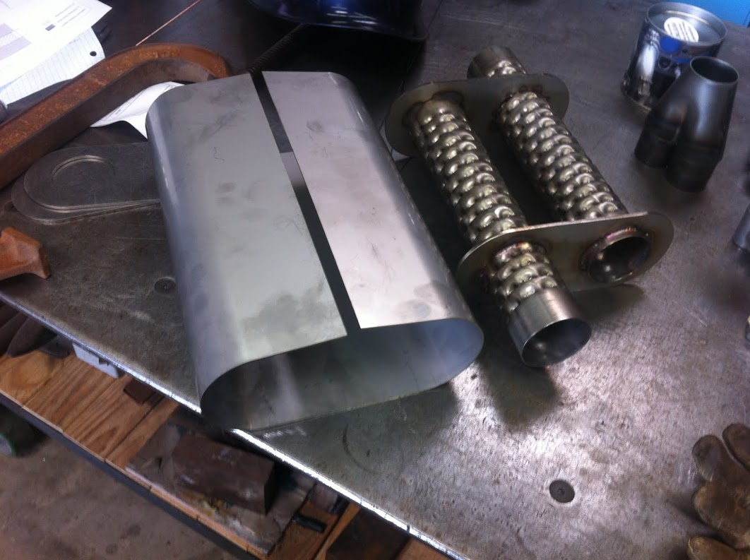 Due to space and noise constraints we needed to fabricate a custom muffler.