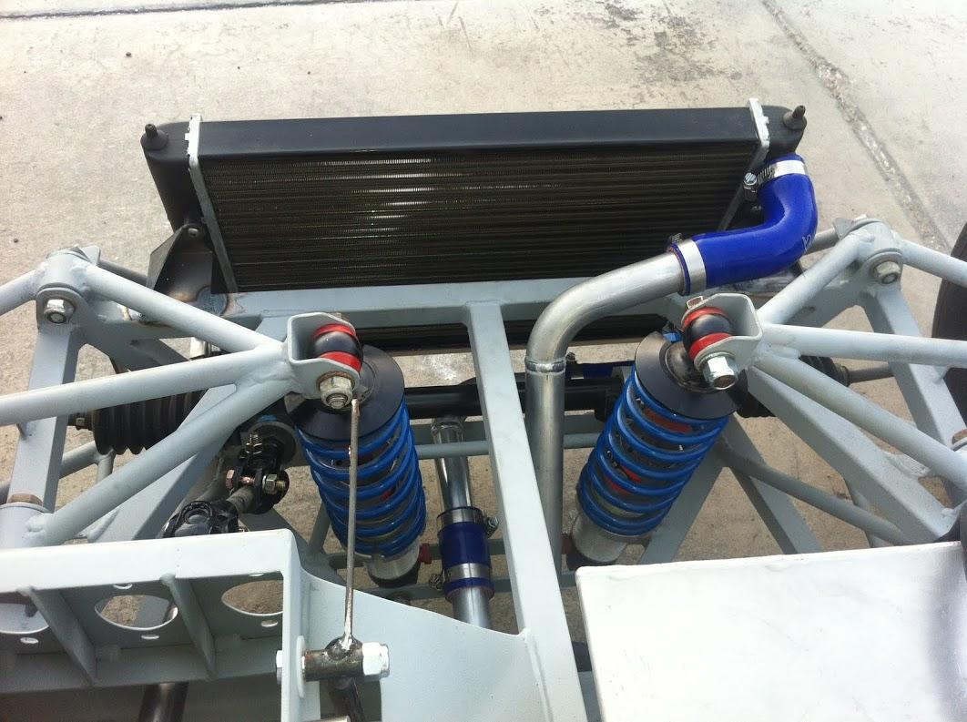 Radiator mounted and water plumbing