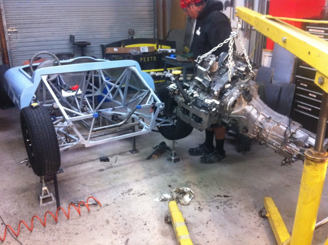 Subaru J20 going in for a trial fit
