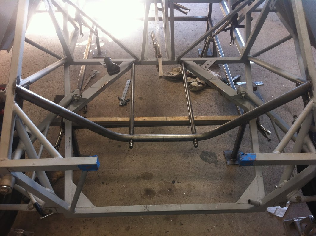 """Trans cradle supported with .75"""" Chromoly tubing"""