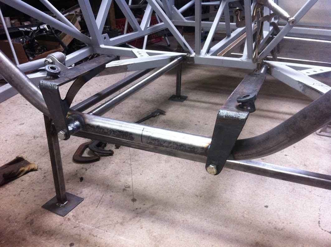 Trans cradle with motor mounts installed
