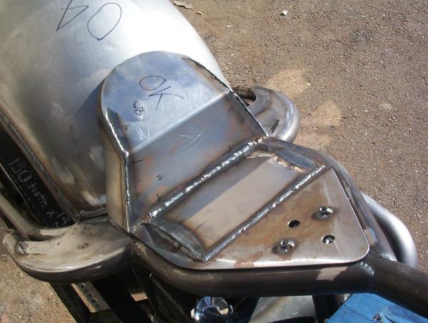 Seat pan installed