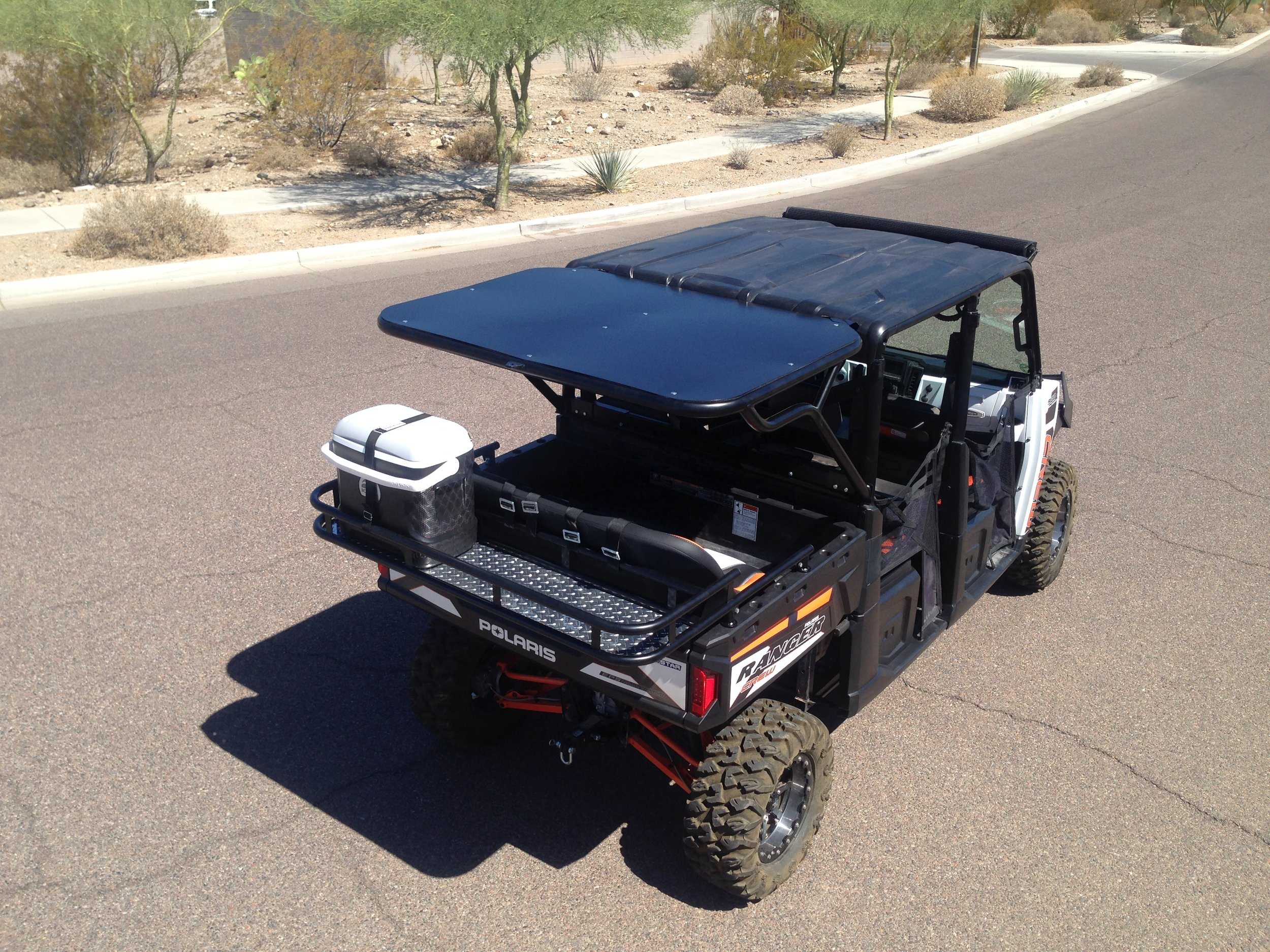 XP900 Ranger Crew accessories|Rear Cage|Cooler Rack|Metal Rood