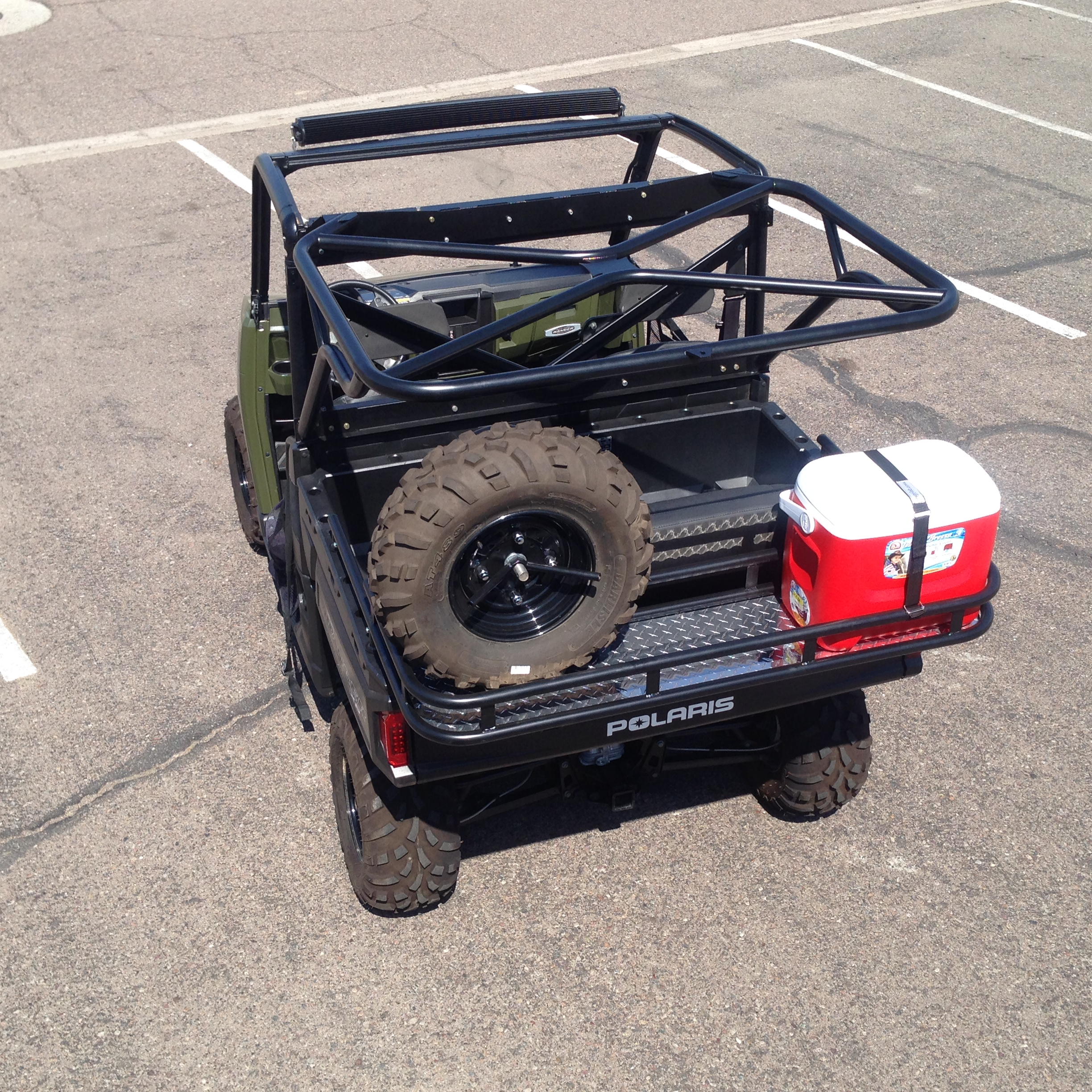 Ranger 900 XP rear cage kit and cooler rack