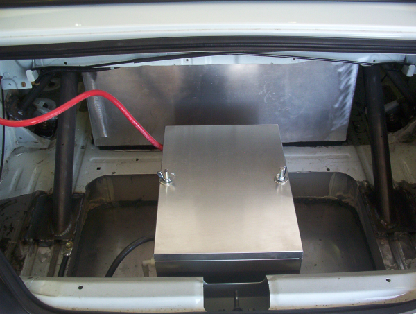 Rear trunk details for Honda roll cage