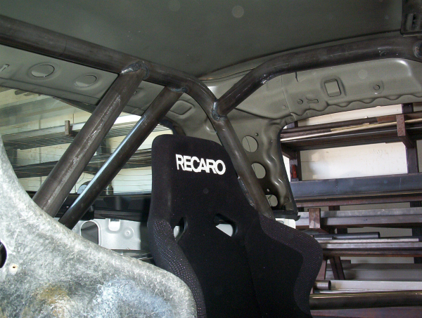 NASA Honda Roll Cage roof detail