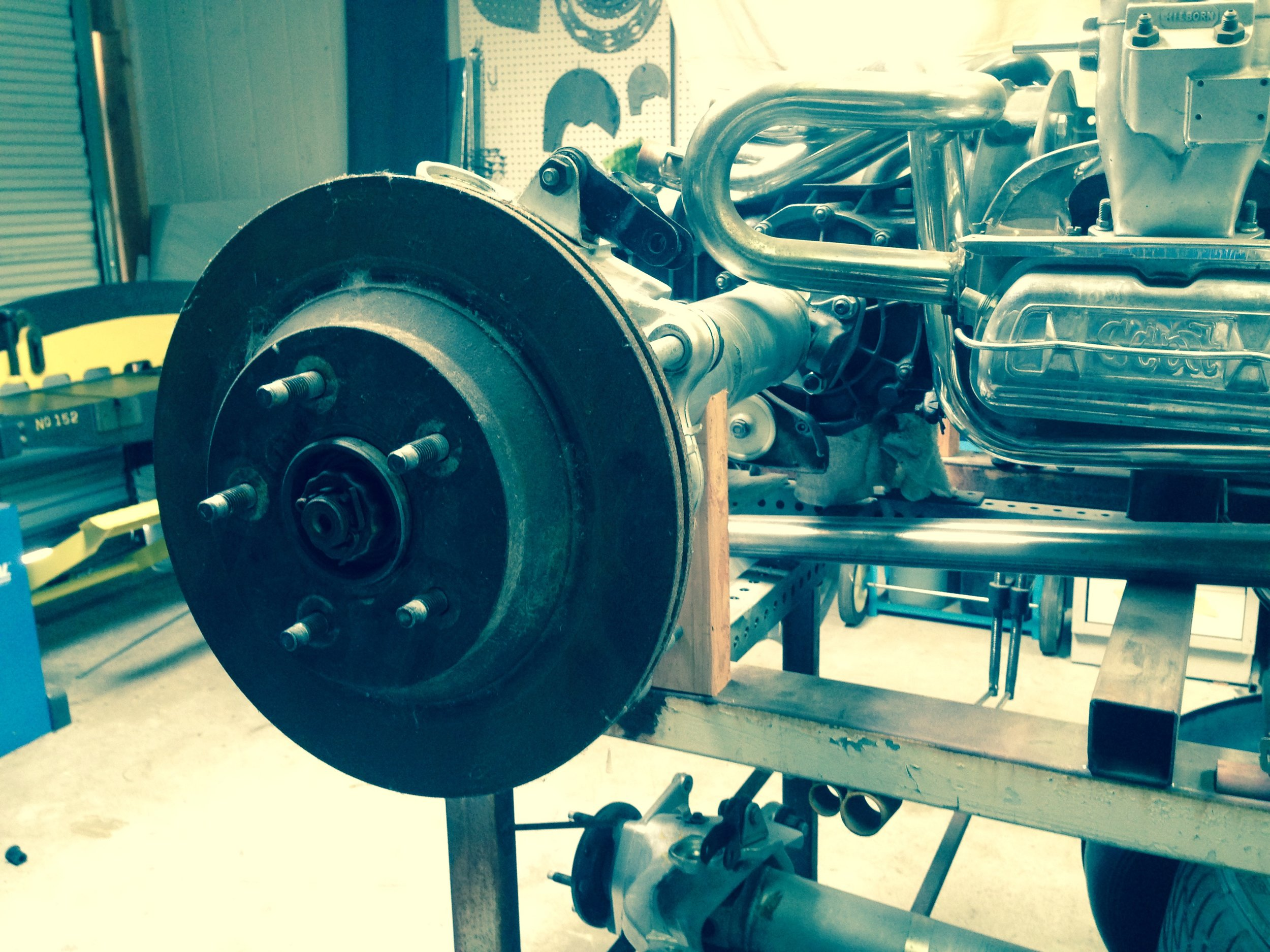 independent rear suspension fabrication