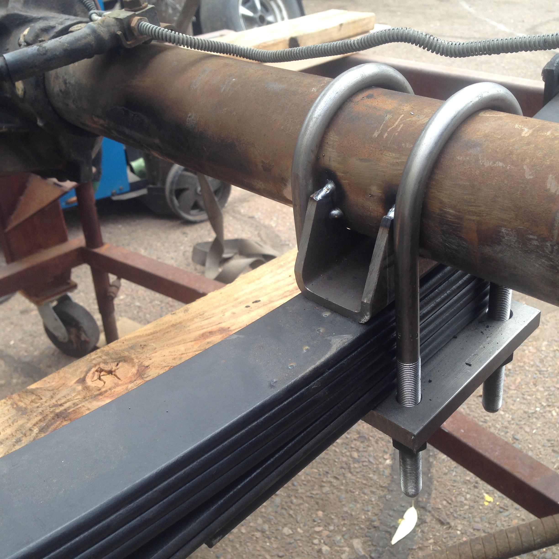 rear axle spring perch install