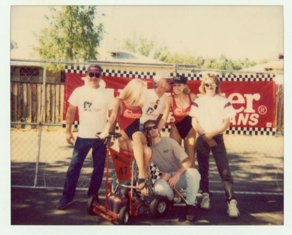 Budweiser Girls and Barstool Racers