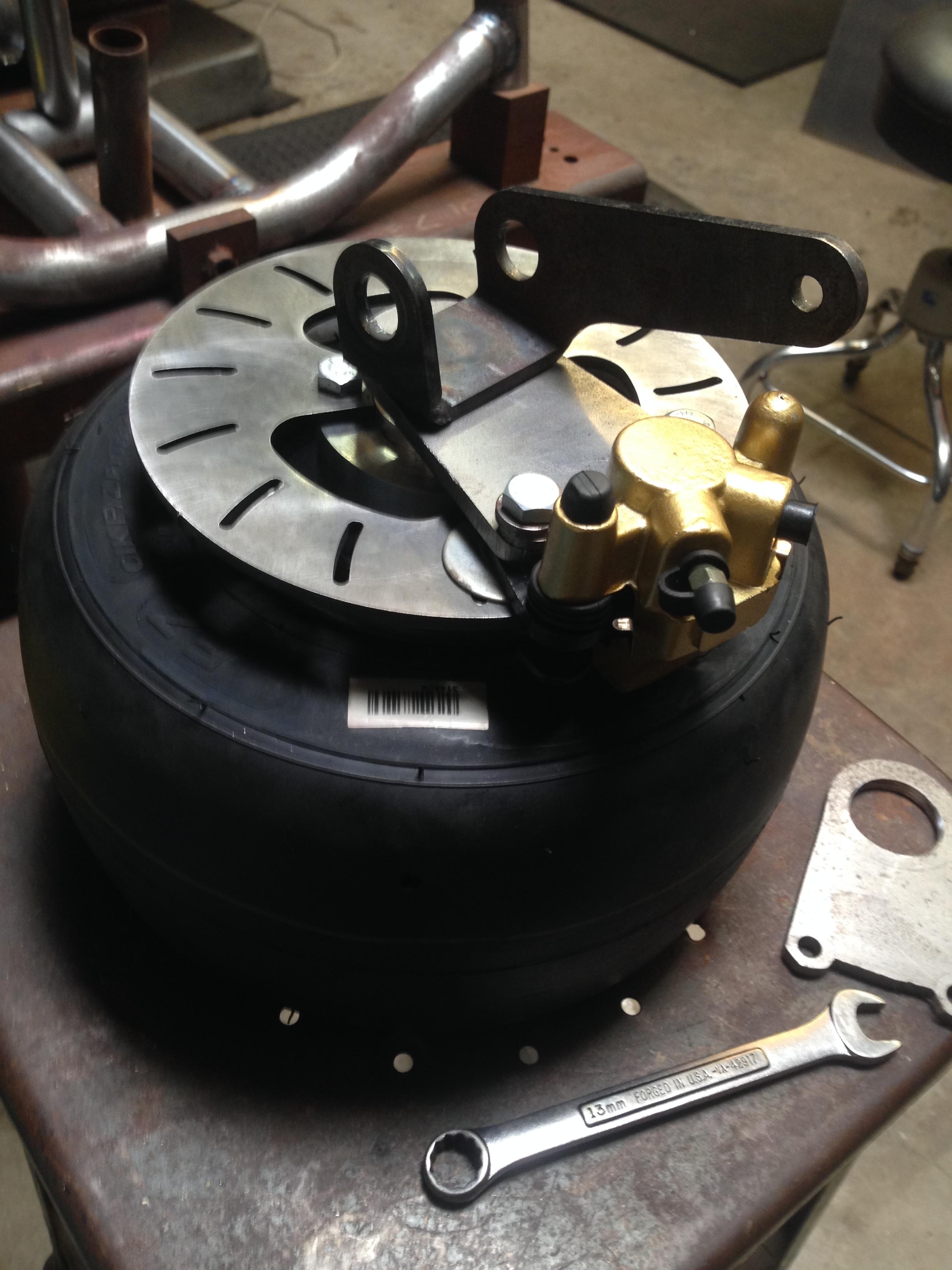 Racing barstool front brakes