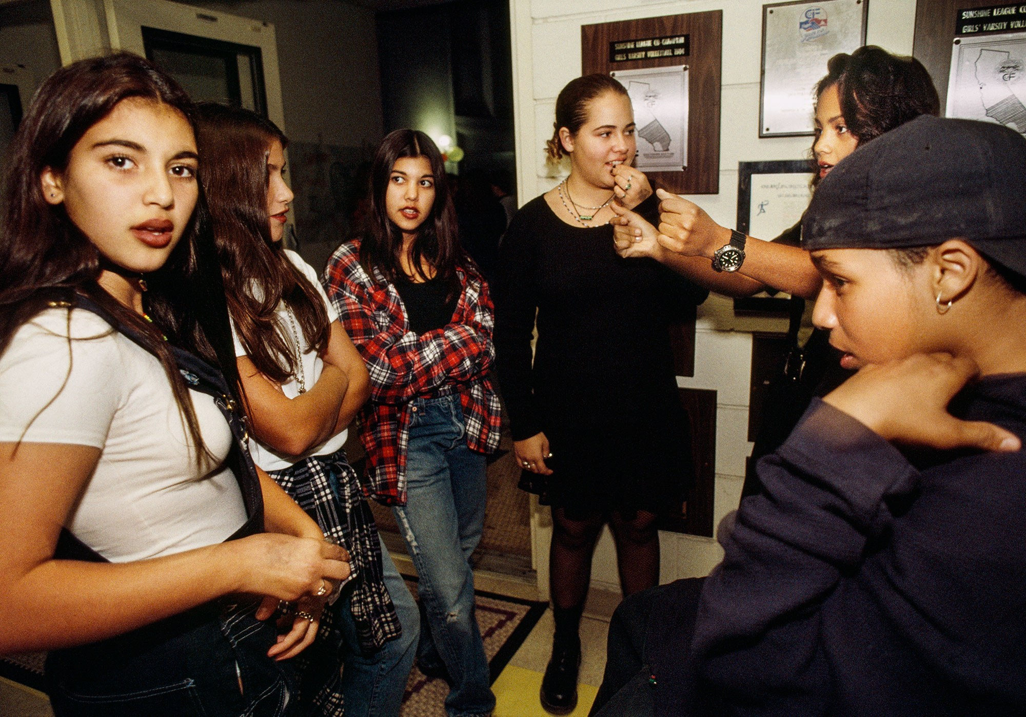 Kim Kardashian + friends photographed by Greenfield in 1992