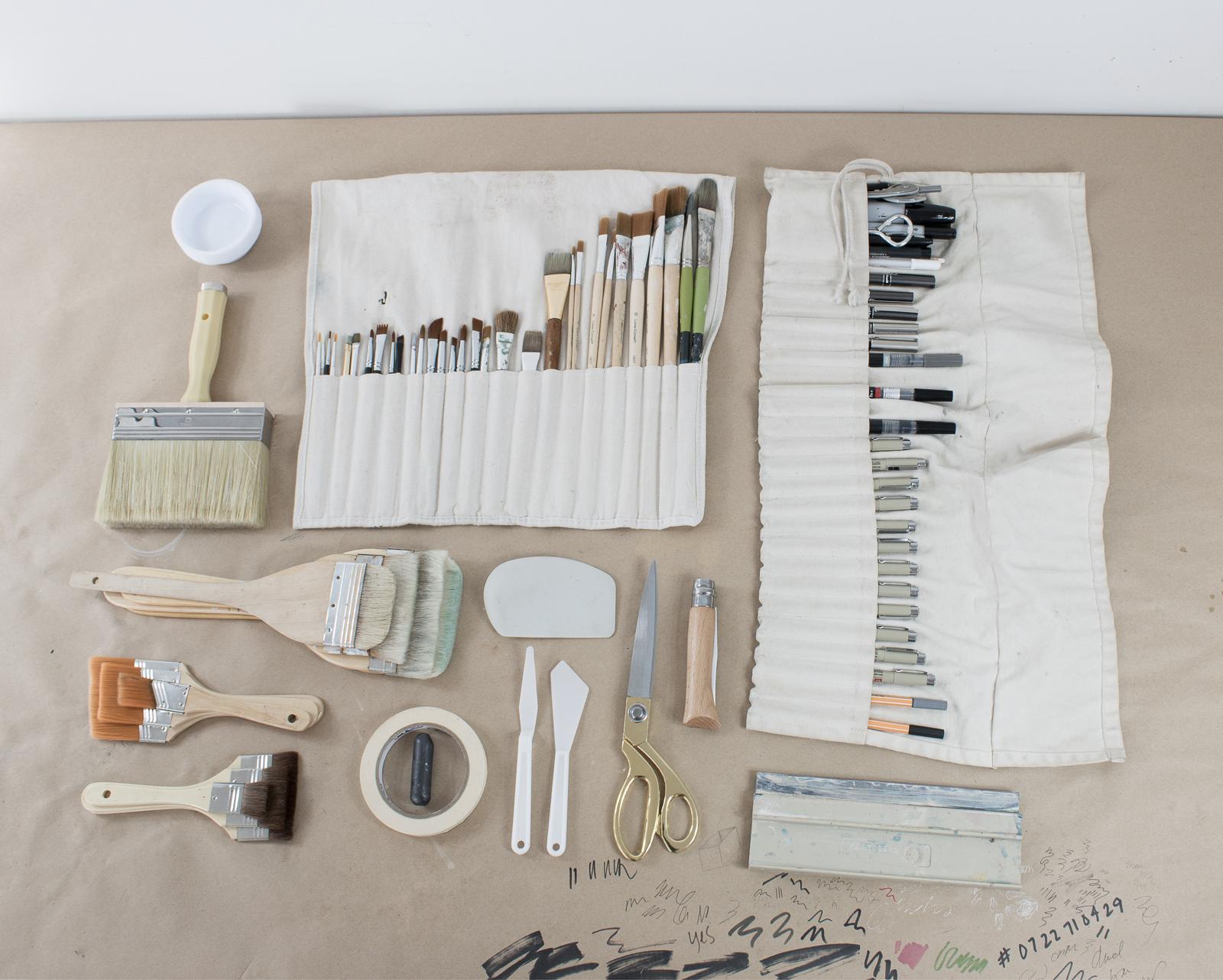 Travel Kit - how I pack for making art on the road